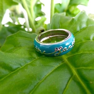 Marc Jacobs Turquoise Ring with Cursive Writing